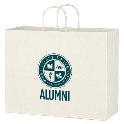 Custom Kraft Paper White Shopping Bag