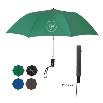 "36"" Arc Telescopic Folding Automatic Umbrella"