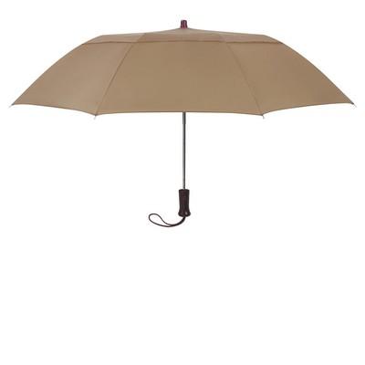 "Customizable 44"" Arc Telescopic Folding Wood Handle Umbrella"
