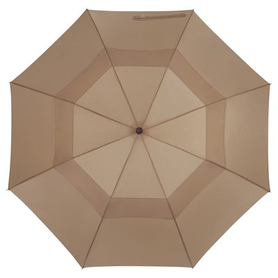 "Customizable 44"" Arc Telescopic Folding Wood Handle Umbrella"