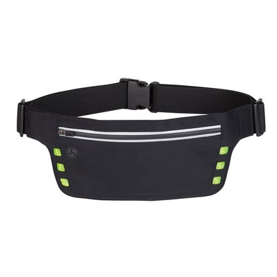 Logo Printed Running Belt with Safety Strip and Lights