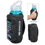 Picture of Imprinted Neoprene Bottle Kooler with Phone Holder