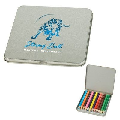 12-Piece Colored Pencil Tin