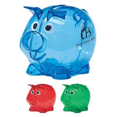 Mini plastic piggy bank promotion pros for Mini piggy banks
