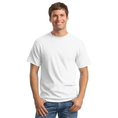 Logoed Hanes ComfortSoft 100% Cotton T-Shirt - White