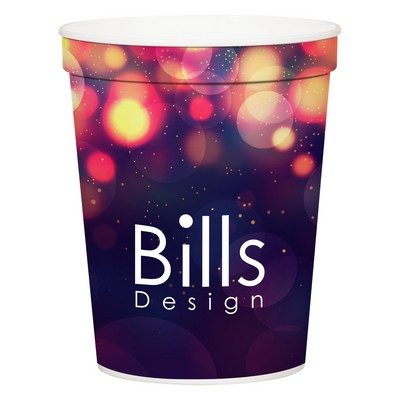 16 Oz. Full Color Stadium Cup (White)
