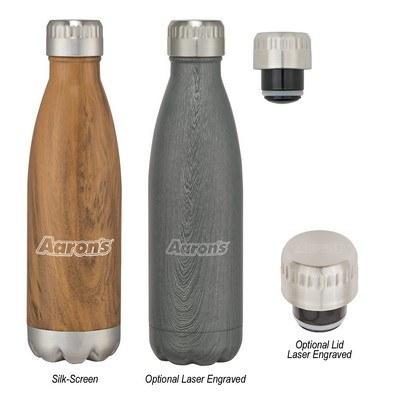 Promotional 16 Oz. Swig Stainless Steel Woodtone Bottle