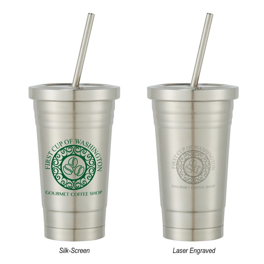 Custom 16oz Stainless Steel Cold Cup | Promotion Pros