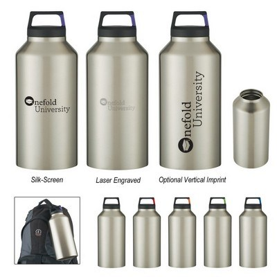 64 Oz Rover Stainless Bottle with Carabiner Clip