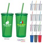 Picture of 24 Oz. Double Wall Acrylic Tumbler With Straw