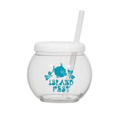 46oz Fish Bowl Cup with Straw