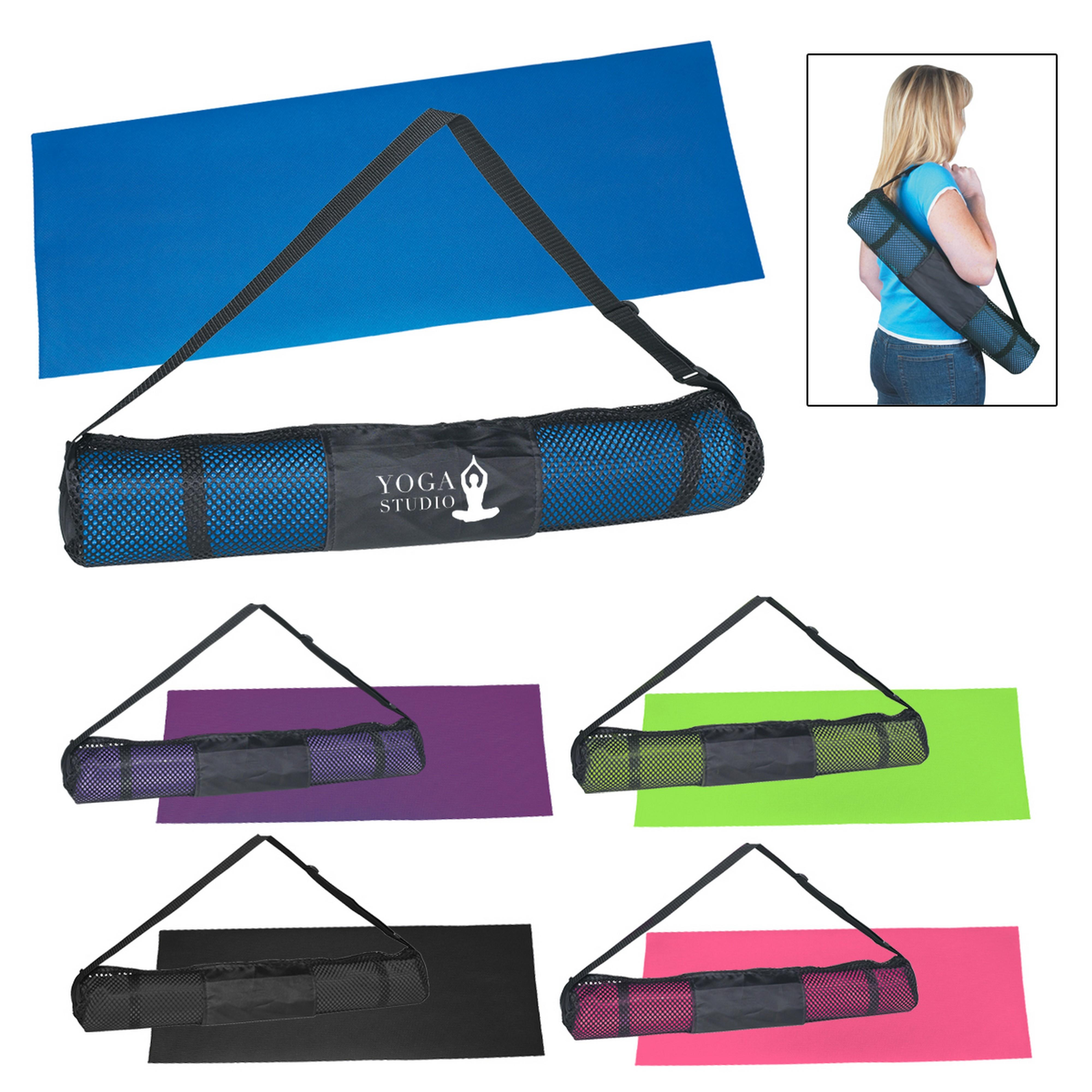 17361f6d65 Yoga Mat And Carrying Case - Screen Printed