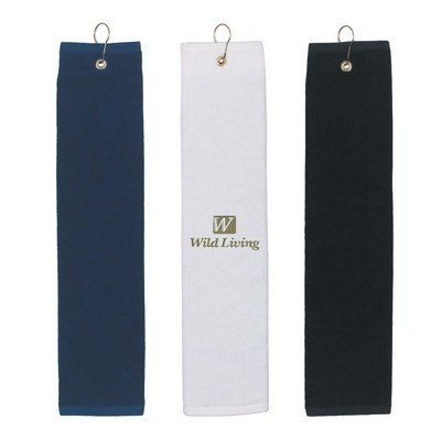 Folded Golf Towel - Embroidered