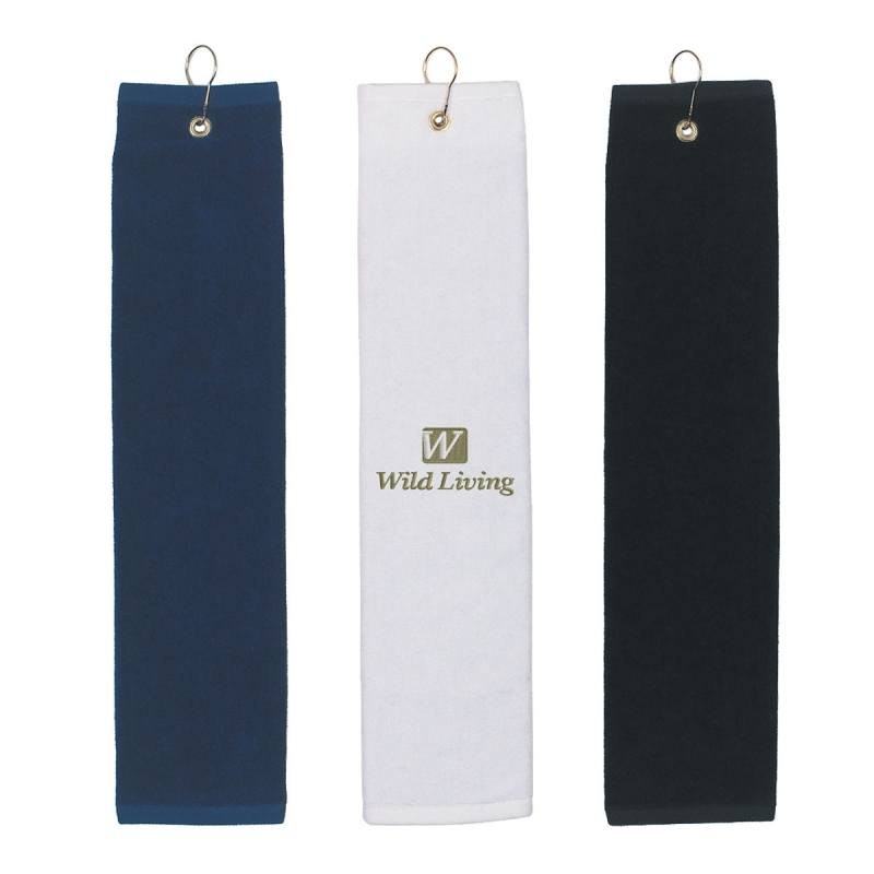 Picture of Folded Golf Towel - Embroidered