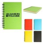 "Picture of 5"" X 7"" Spiral Notebook With Colored Paper"
