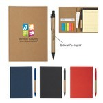 Picture of Logo Printed MeetingMate Notebook with Pen and Sticky Flags