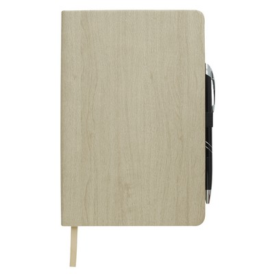 "Customised 5"" x 8"" Woodgrain Look Notebook"