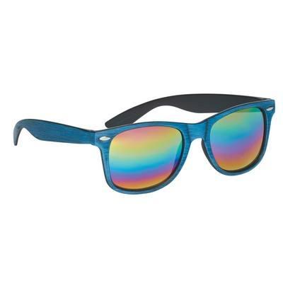 Custom Woodtone Mirrored malibu Sunglasses