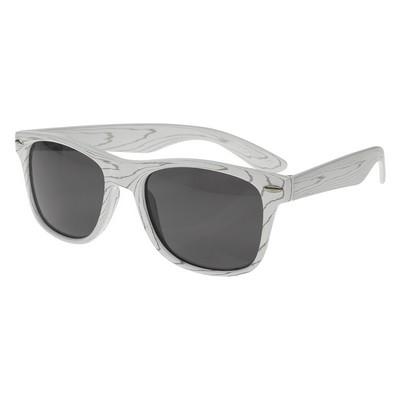 Promotional Designer Collection Woodtone Malibu Sunglasses