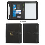 "Picture of Pebble Grain Zippered  8 ½"" X 11"" Portfolio with Calculator"