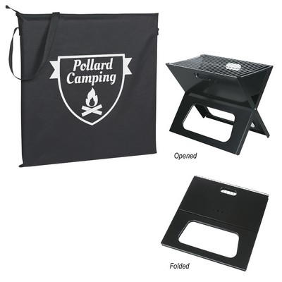 Promotional Collapsible Portable Grill with Carrying Bag