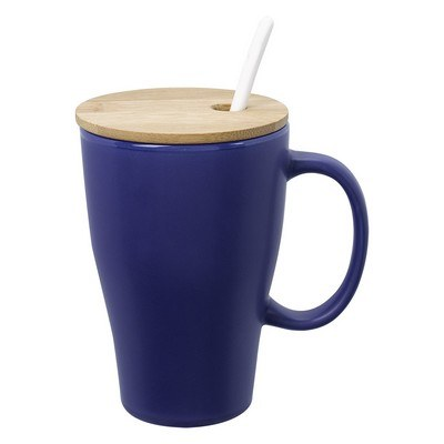 Custom-made 12 Oz. Spooner Mug w/ Bamboo Lid