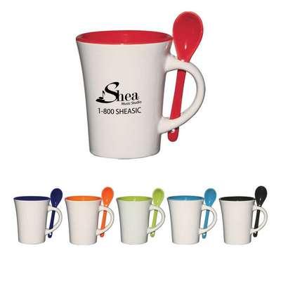 10 Oz. Blanco Spooner Mug