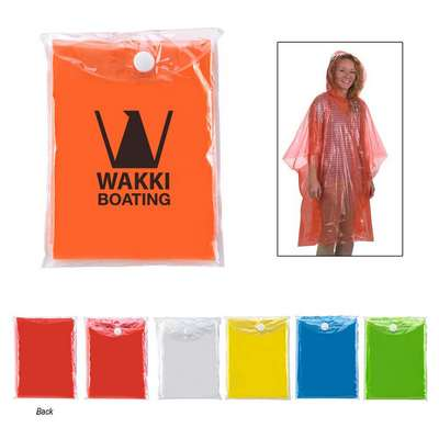 Disposable Poncho with Pouch