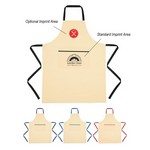 Picture of Logo Printed Cotton Cooking Apron - Screen Printed