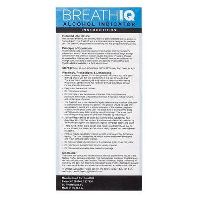 Imprinted BreathIQ Alcohol Indicator Key Tag