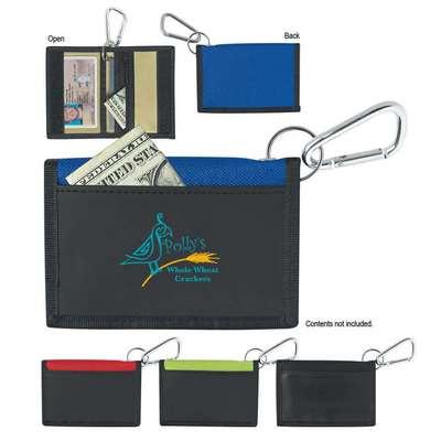 Velcro Wallet With Carabiner