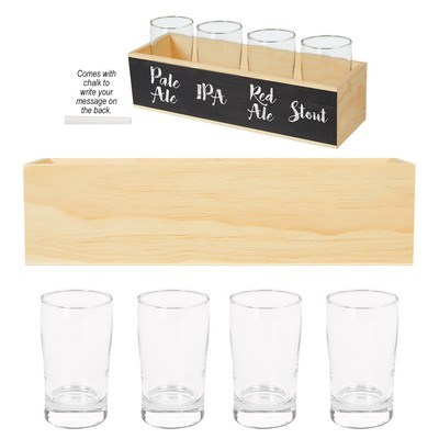 Logoed Chalkboard Flight Crate Kit - PAD Printed