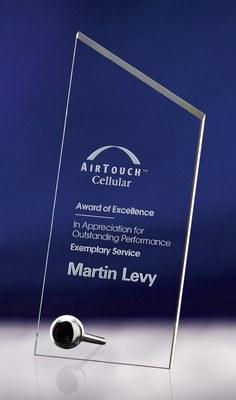 Studio Large Jade Crystal Award