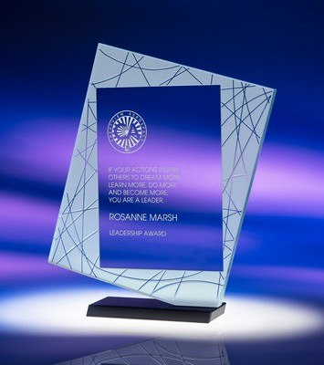 Direction Medium Jade Crystal Award