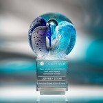 Picture of Intrigue Large Art Glass Award