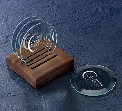 Beveled Optic Crystal Coasters