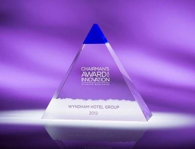 Blue Majestic Small Optic Crystal Award