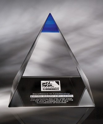 Blue Majestic Large Optic Crystal Award