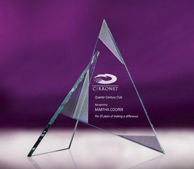 Zephyr Medium Jade Crystal Award
