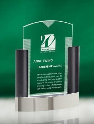 Neopolitan Large Jade Crystal Award