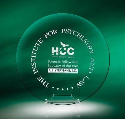 Quest Jade Crystal Medium Award Plate