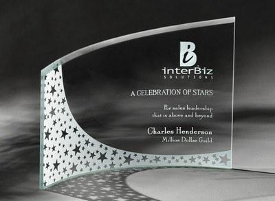 Breeze Large Jade Crystal Award