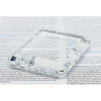 Prato Rectangle Crystal Paperweight
