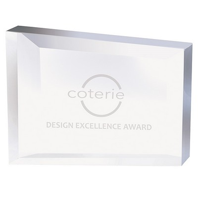 Rectangular Frame Crystal Award