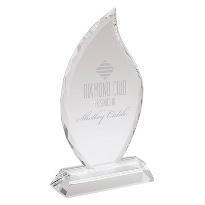 Fiamma II Large Crystal Flame Award