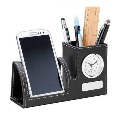 Bardo Clock, Phone Holder & Pen Cup