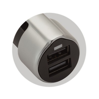 Luas 3-in-1 2.4A Dual USB Car Charger