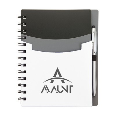 Logoed Junior Notebook & Stylus Pen