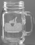 Picture of 16 oz. Handled Jar - Etched