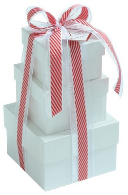 3 PC Gift Tower- Peppermint Gift Selection